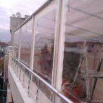şeffaf balkon brandası